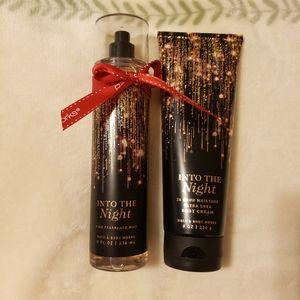 Bath & Body Works Fragrance Set Into The Night